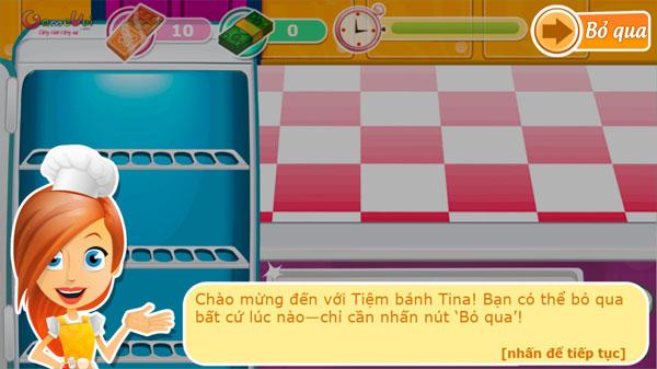 Cách chơi game Tiệm bánh Tina