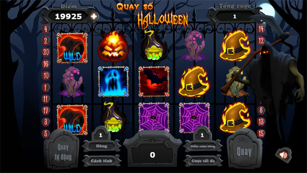 Màn hình chơi game Quay số Halloween