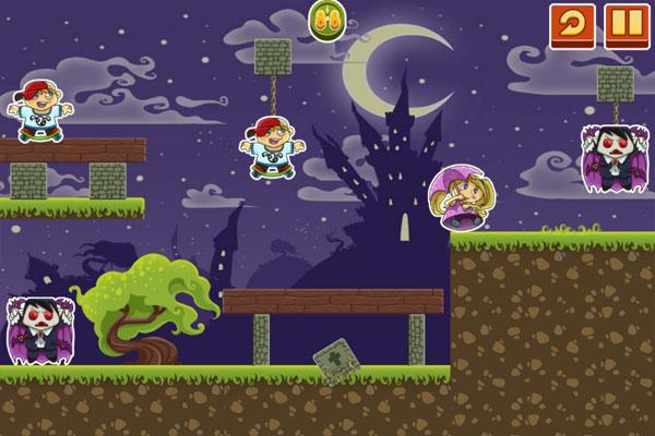 Màn hình chơi game Halloween Ma cà rồng