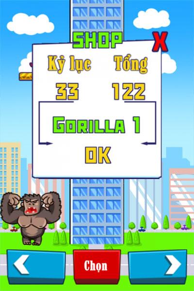 Chọn nhân vật trong King Kong