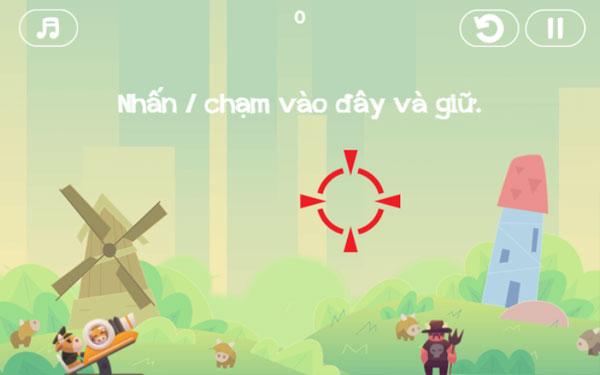 Cách chơi game Loài bò nổi giận