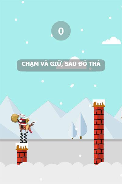 Màn hình chơi game Santa vượt ống khói