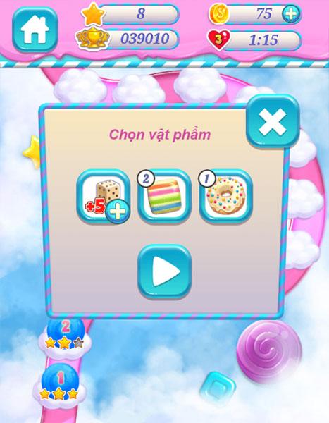 Chọn vật phẩm chơi Xếp kẹo ngọt online 3