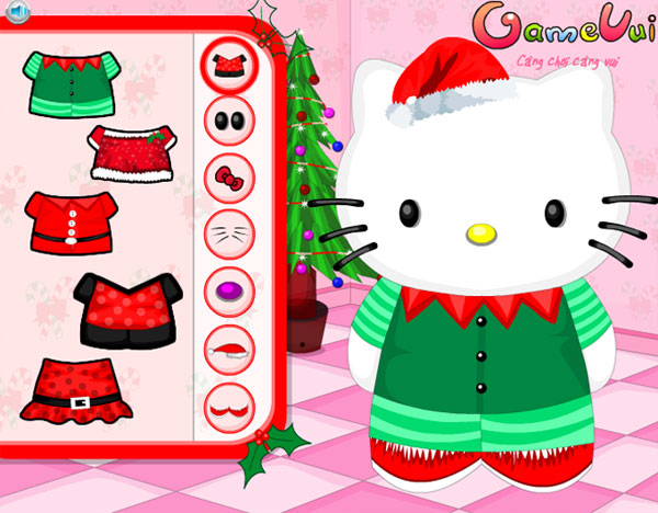 Chọn trang phục cho Hello Kitty đón giáng sinh