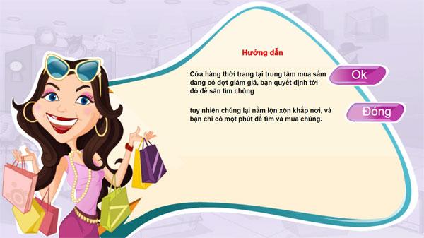 Giới thiệu game Thỏa sức shopping online