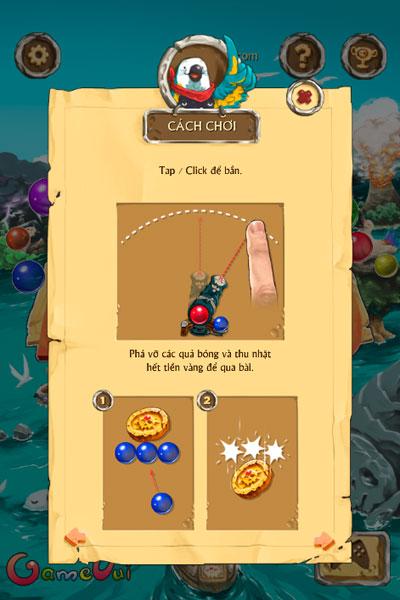 Cách chơi game Cướp biển bắn bóng 2