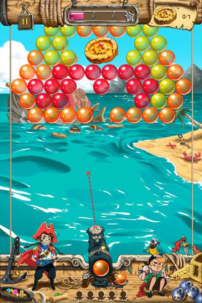 Màn hình chơi game Cướp biển bắn bóng 2