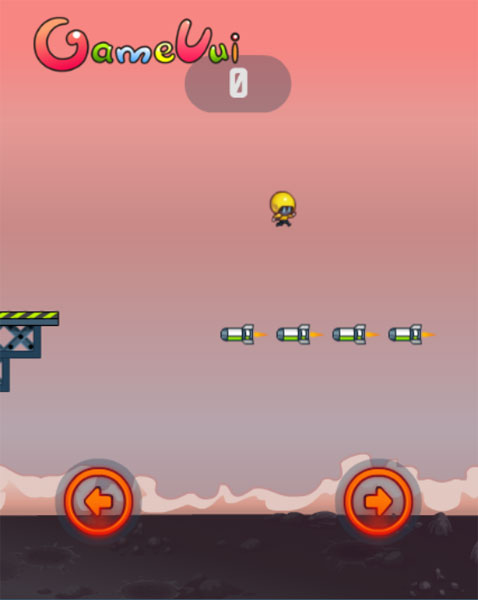 Màn hình chơi game Con đường tên lửa