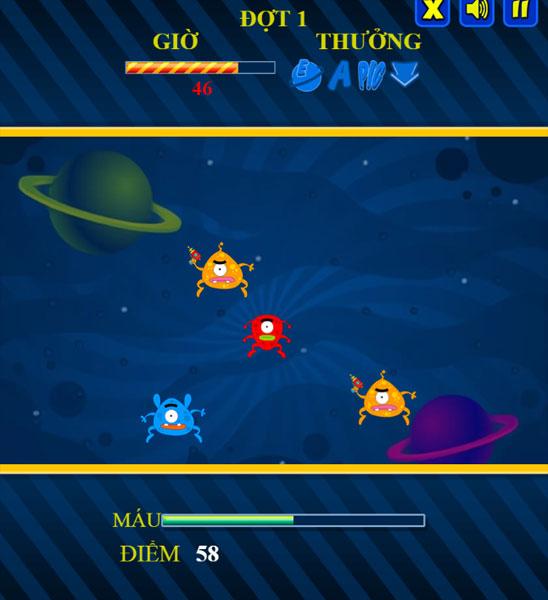 Màn hình chơi game Đánh bại Alien