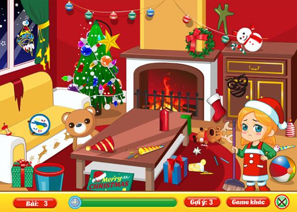 Dọn phòng khách trong Giáng sinh dọn nhà