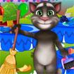 Mèo Tom dọn dẹp