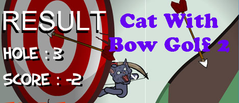 Cat With Bow Golf 2