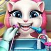 Angela khám răng