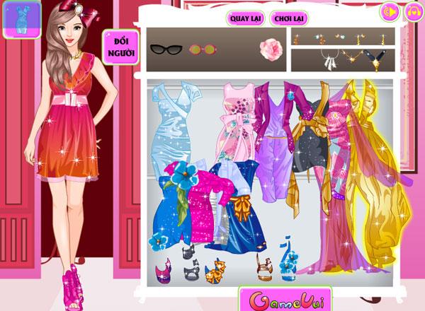 Lựa chọn trang phục, phụ kiện trong game Người mẫu thời trang 2