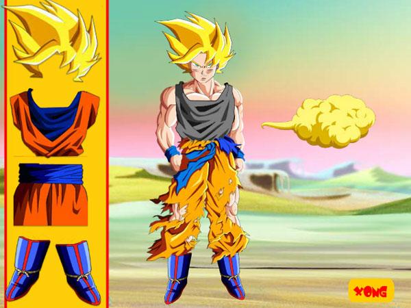 Lựa đồ trong game Trang phục Goku
