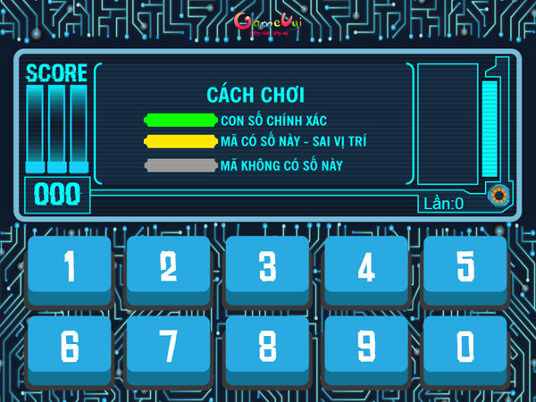 Cách chơi game Chuyên gia mật mã