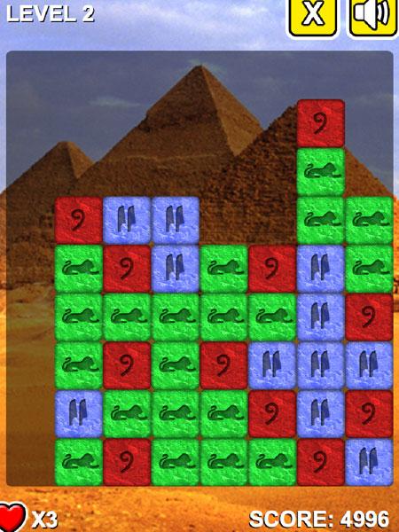 Chơi game Viên đá Pharaon