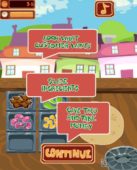 Cách chơi game Tiệm bánh Taco 2