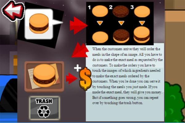 Cách chơi game Tiệm Burger tốc độ