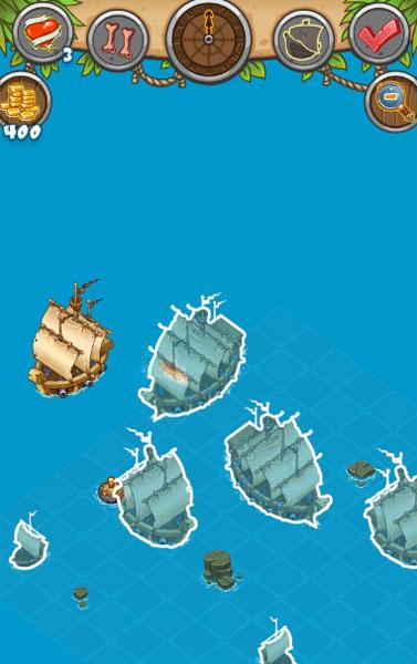 Màn hình chơi game Cướp biển dàn trận