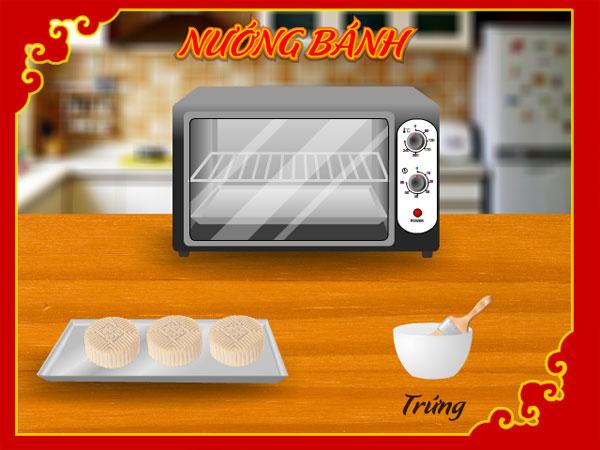 Nướng bánh trong Làm bánh trung thu 3