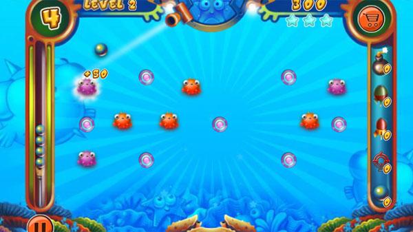 Màn hình chơi game Bắn cá đại dương