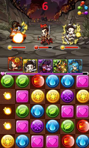 Màn hình chơi game Tam quốc đại chiến