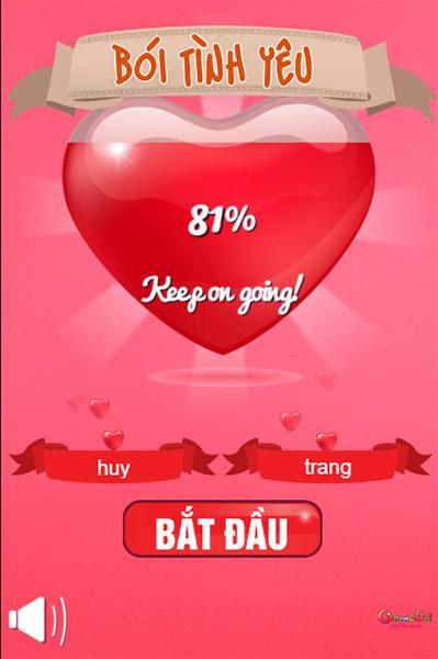 Love Tester - Game Vui