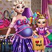 Bà bầu Elsa Shopping