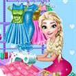 Elsa thiết kế váy