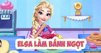 Elsa làm bánh ngọt