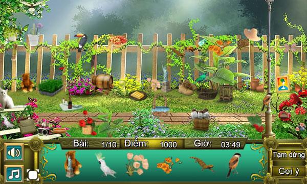 Màn hình chơi game Khu vườn bí ẩn