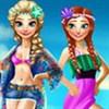 Elsa và Anna đi biển