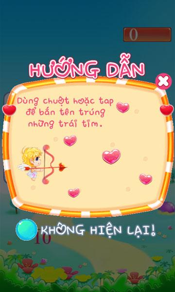 Cách chơi Cupid bắn tên