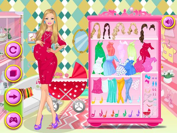 Thời trang bầu của Barbie
