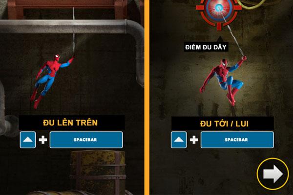 Đu tơ nhện trong Spiderman giải cứu