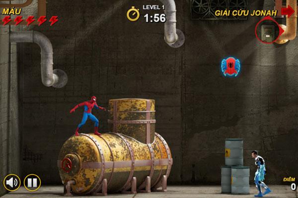 Màn hình chơi game Spiderman giải cứu