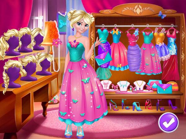 Chọn trang phục trong Elsa trang điểm