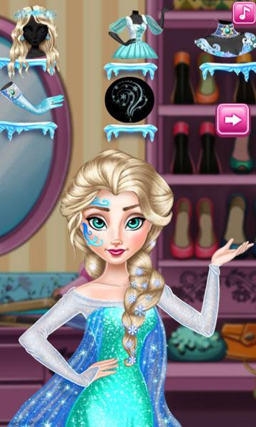 Chọn trang phục sau khi Elsa trang điểm 2