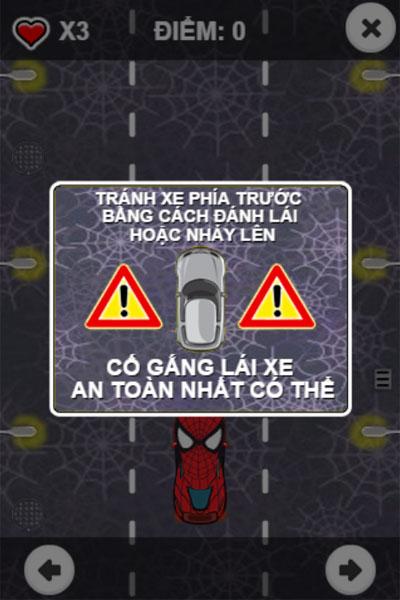 Hướng dẫn chơi Lái xe Người nhện