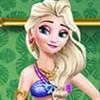 Elsa dưỡng da đi biển