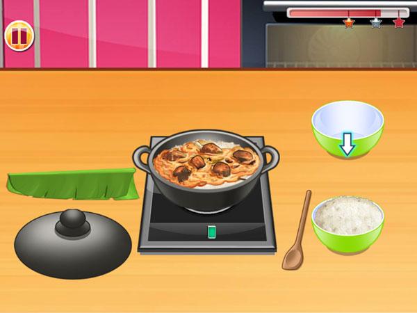 Nấu cơm trong Lớp học nấu ăn 6