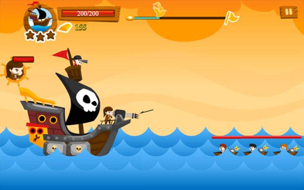 Màn hình chơi game Thợ săn cướp biển