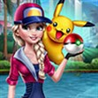 Elsa bắt Pokemon