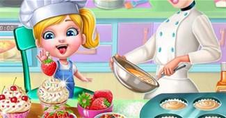 Cindy nướng bánh Cupcake
