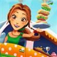 Emily phục vụ đồ ăn