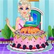 Elsa làm bánh kem