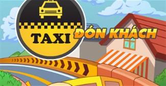 Taxi đón khách