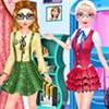 Elsa và Anna đến trường