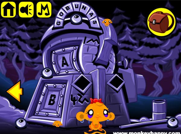 Hướng dẫn chơi game Chú khỉ buồn 199 - Cỗ máy kỳ lạ: